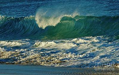 Photograph - Sun Lit Wave by Craig Wood