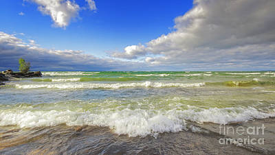 Photograph - Beautiful Beach Waves by Charline Xia