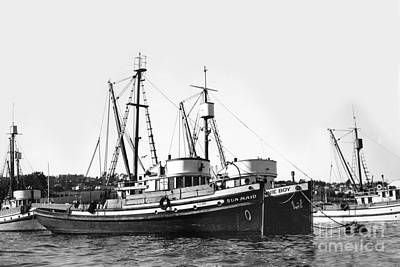 Photograph - Sun Maid And Jonnie Boy Monterey Fishing Boats by California Views Mr Pat Hathaway Archives