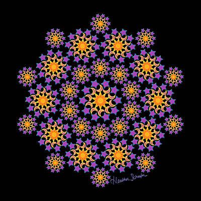 Sun Moon And Stars Art Print
