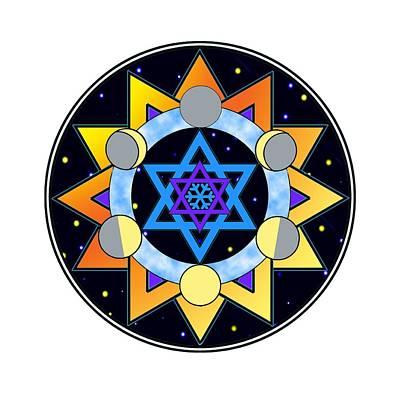 Sun, Moon, Stars Art Print