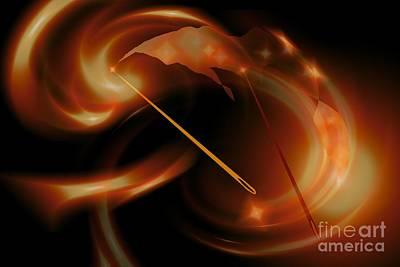 Digital Art - Sun Needles by Alice Chen