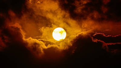 Photograph - Sun Nestled In Clouds by Lawrence S Richardson Jr