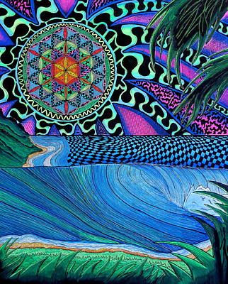 Trippy Painting - Sun Of Life by Sam Bernal