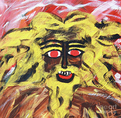 Painting - Sun Of Man by Odalo Wasikhongo