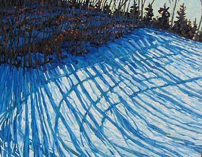 Painting - Sun Of Winter Shadows by Phil Chadwick