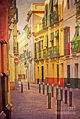 Photograph - Sun On A Seville Street by Mary Machare