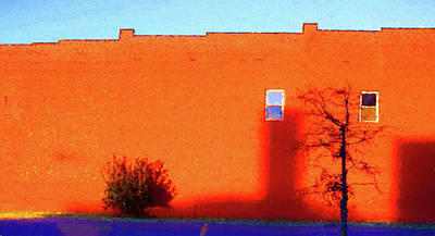 Digital Art - Sun On Brick Seurat Influence by Denise Beverly