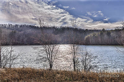Photograph - Sun On Mountain Lake  by Elvis Vaughn
