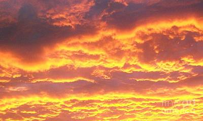 Sun On The Clouds Art Print by Marsha Heiken