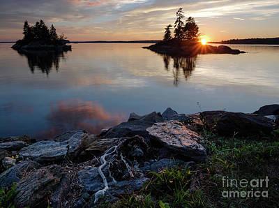 Photograph - Sun On The Horizon, Harpswell, Maine  #99068-71 by John Bald