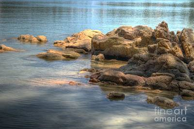 Photograph -  Sun On The Rocks by Michelle Meenawong