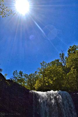 Photograph - Sun Over Lula Lake Falls by Tara Potts