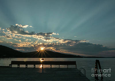 Photograph - Sun Over The Mountain by Mim White