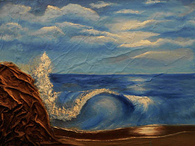 Mixed Media - Sun Over The Ocean by Angela Stout