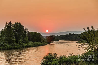 Photograph - Sun Over The Payette River by Robert Bales