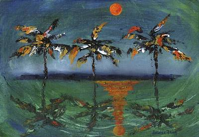 Painting - Sun Palms by Jamie Frier