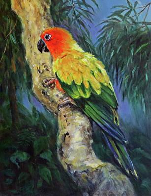 Sun Parakeet Original by Dan Spangler