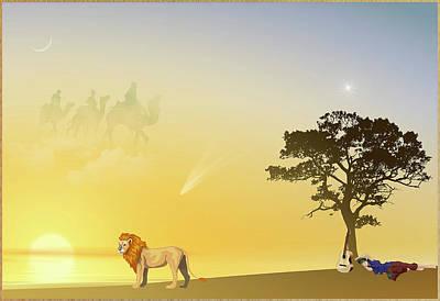 Digital Art - Sun Path by Harald Dastis