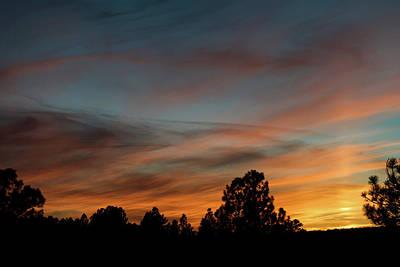Sun Pillar Sunset Art Print