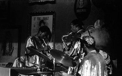 Music Figurative Potraits - Sun Ra Arkestra at the Red Garter 1970 NYC 35 by Lee Santa