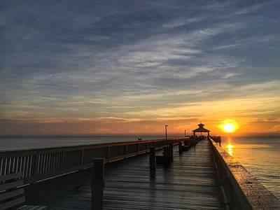 Photograph - Sun Ray Pier  by Juan Montalvo