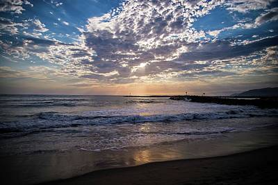 Photograph - Sun Ray Reflections In Ventura by Lynn Bauer