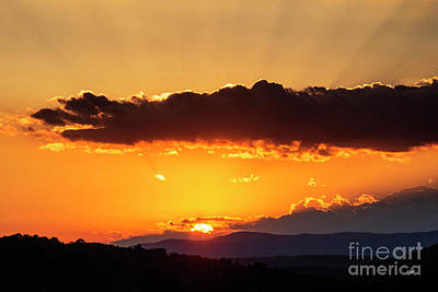 Photograph - Sun Rays And The Setting Sun by Alana Ranney