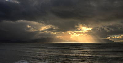 Photograph - Sun Rays At Inch Beach by Barbara Walsh