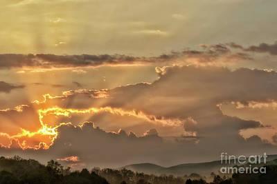 Photograph - Sun Rays At Sunrise by Thomas R Fletcher