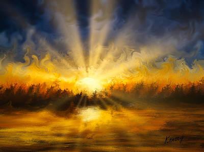 Digital Art - Sun Rays by Johanne Dauphinais