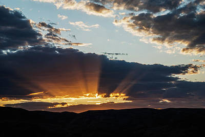 Photograph - Sun Rays Over Boise Hills by Vishwanath Bhat
