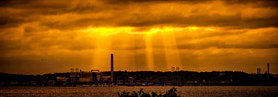 Photograph - Sun Rays Over Boston by Lilia D