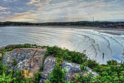 Photograph - Sun Rays Over Good Harbor Beach As Seen From Salt Island Gloucester Ma by Toby McGuire