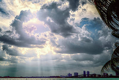 Sun Rays Over Miami Art Print