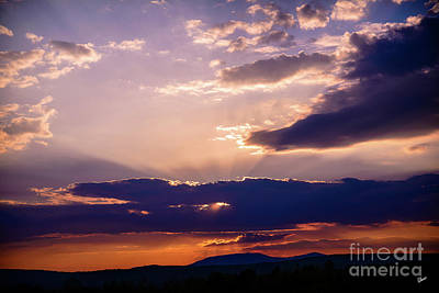 Photograph - Sun Rays Over Saddle Back Mt by Alana Ranney
