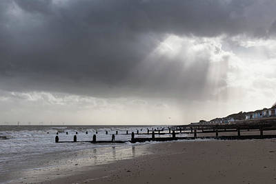 Photograph - Sun Rays Over The Beach by Gary Eason