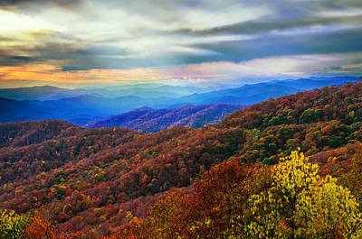 Photograph - Sun Rays Over The Blue Ridge by Lynn Bauer