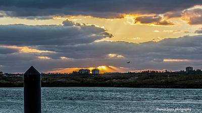 Photograph - Sun Rays Over The Intracoastal  by Nance Larson