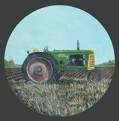 Painting - Sun Rays Tractor by Sheri Jo Posselt
