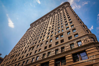 Photograph - Sun Reflection On The Flatiron Building  by Alissa Beth Photography