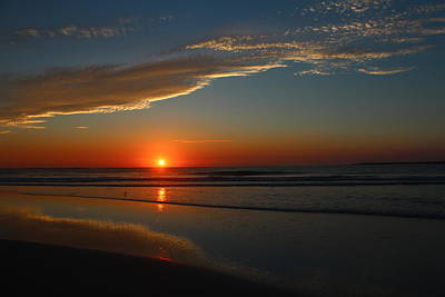 Photograph - Sun Reflection On Vilano Beach by Sean Sowell