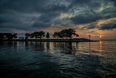 Photograph - Sun Rise On Chicago's Lakefront by Sven Brogren