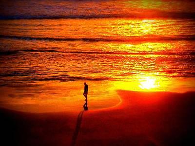 Walker Digital Art Photograph - Sun Rise Walk Closer Scene by Victoria Beasley