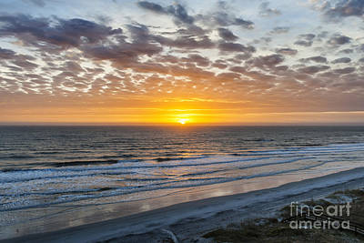 Sun Rising Over Atlantic Art Print by Elena Elisseeva