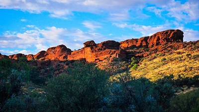 Photograph - Sun Rising Over Kings Canyon - Northern Territory, Australia by Lexa Harpell
