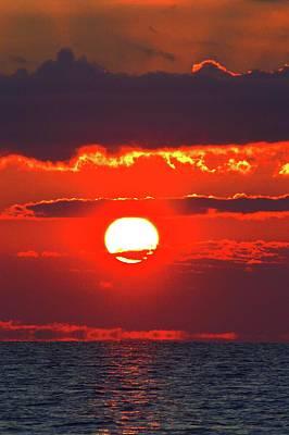 Photograph - Sun Rising Over Lake Simcoe  by Lyle Crump