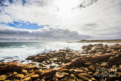 Rough Water Photograph - Sun Rising Over The Ocean by Jorgo Photography - Wall Art Gallery