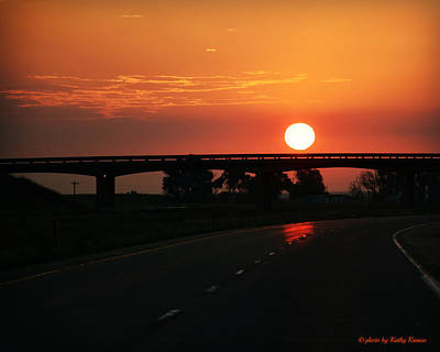 Photograph - Sun-rolling Down The Highway by Kathy M Krause