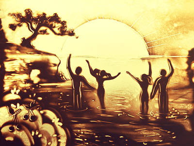 Painting - Sun Salutation by Elena Vedernikova